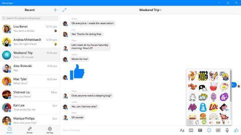 Messenger för Windows 10 uppdateras