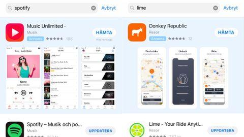 Annonser i App Store