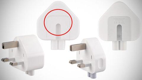 Apples återkallade stickkontaktadapter