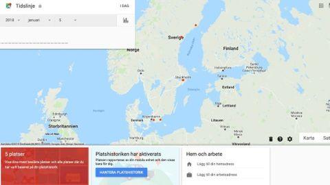 Radera platsdata Google