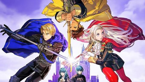 Three Houses front cover but stretched