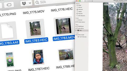 Slå ihop bilder med aae-filer.