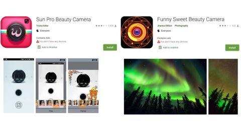 Wandera  Sun Pro Beauty Camera och Funny Sweet Beauty Selfie Camera