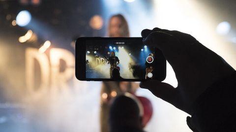 Mobil på en koncert