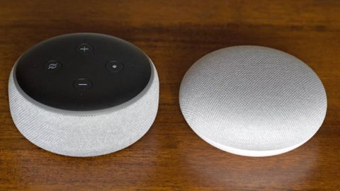 Amazon Echo Dot och Google Home Mini