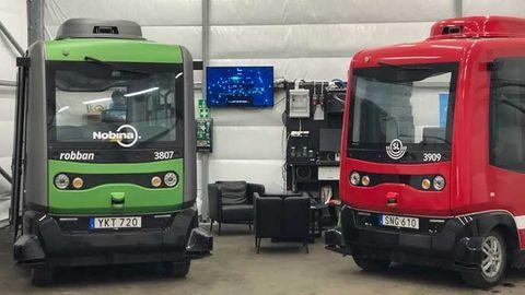 självkörande buss linjetrafik