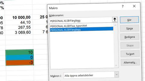 Excel-makron