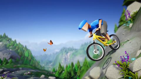 bike rolling downhill