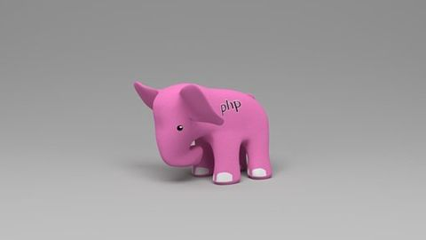 Rosa elefant php