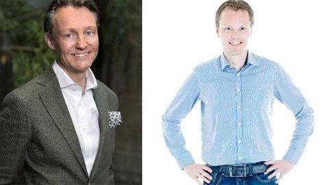 Nordlos Fredrik Almén och nya kollegan Tore Solberg.