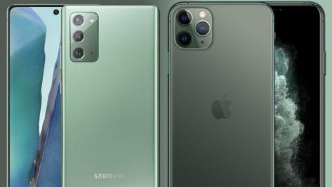Samsung Galaxy Note 20 vs Iphone 11 Pro