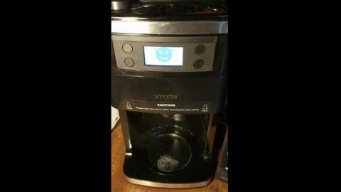 Hackad kaffebryggare