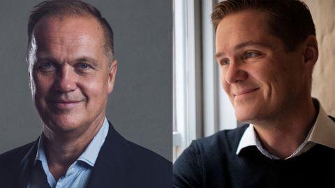 Evrys tidigare Sverige-vd Niclas Ekblad (till vänster) är styrelseordförande för Dizparc och Andreas Blåeldh (till höger) är ny vd och koncernchef.