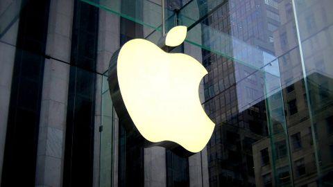 Apple-logga på fasad