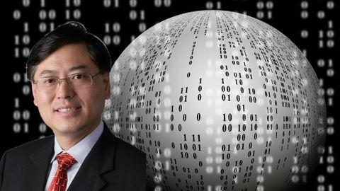 """Den nya hybrida världen. """"Det är en permanent strukturförändring i individens livsstil och organisationskulturer"""", säger Lenovosvd Yuanqing Yang."""