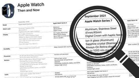 Läckt Apple Watch-jämförelse