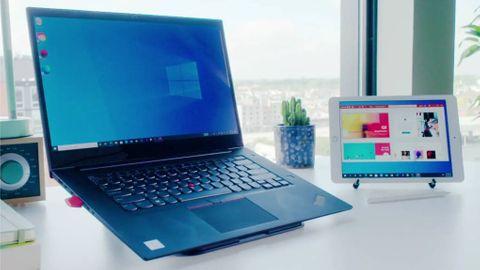 Luna Display med Windows och en Ipad