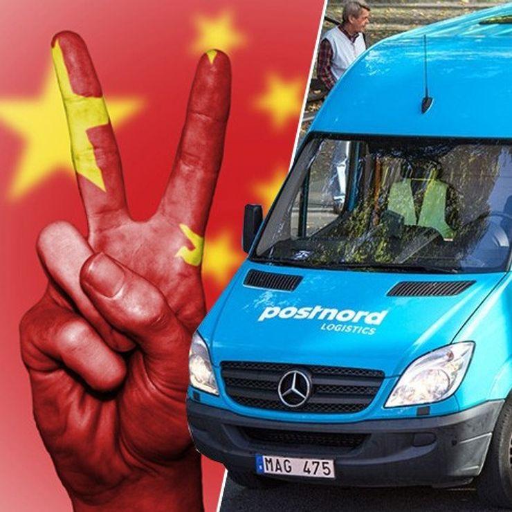 Postnord avgift Kina