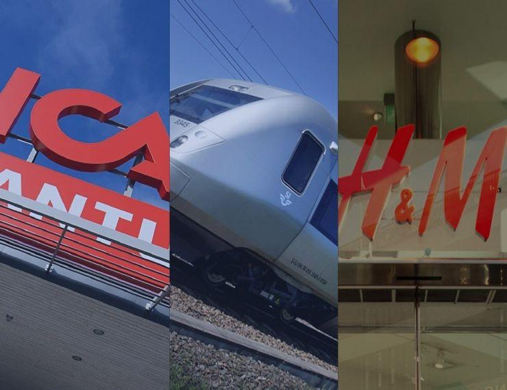 ICA, SJ, H&M