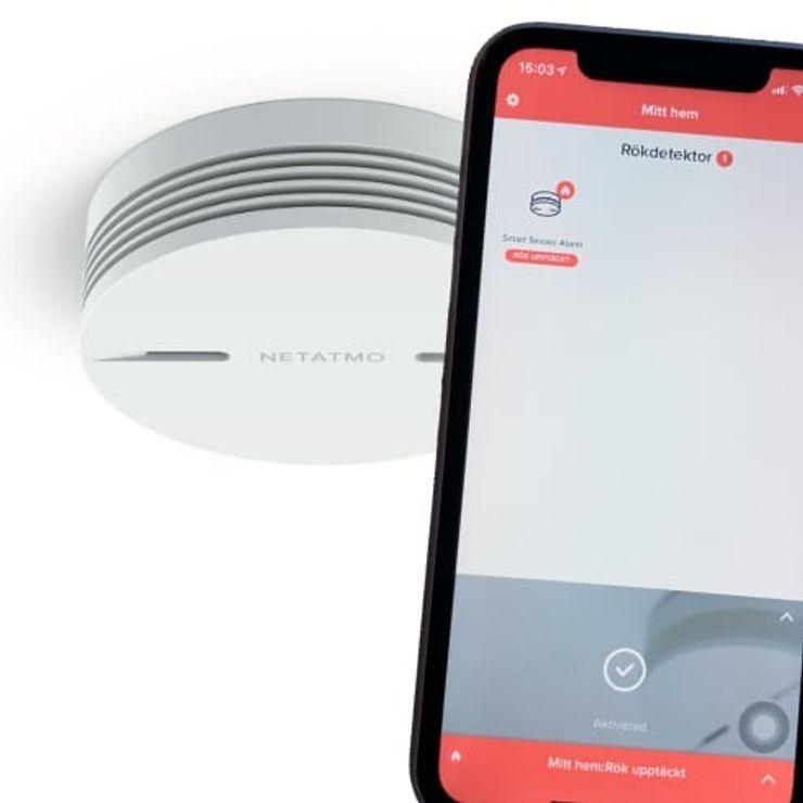 Netatmo smart brandvarnare med Homekit