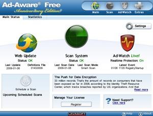 Ladda ned Ad-aware gratis och ta bort spionprogram