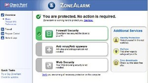 ZoneAlarm - brandvägg - program för gratis nedladdning