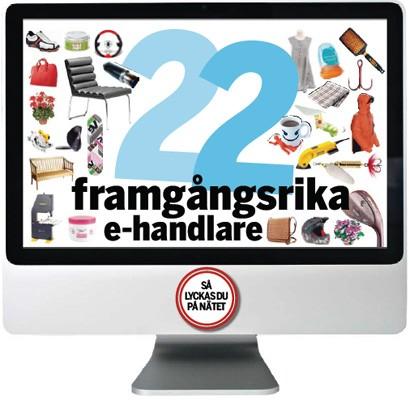 """Postens och HUI:s folder \""""22 framgångsrika e-handlare\"""" (maj, 2008)"""