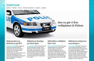 Bild på webbyrån Söderhavets sajt.