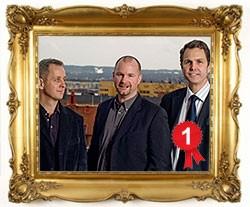 Fraktjakts grundare Jim Mulshine, Joakim Ekström och Kelly Quirk.