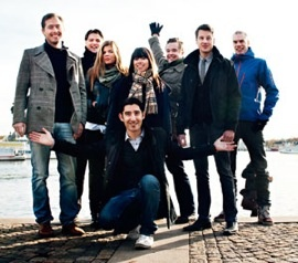 Halens: William Sporrong, Andreas Jönsson, Anna Sokolowski, Noelia Guinon, Carl Bergquist, Markus Lindberg, Jakob Rasmussen och Freddy Sobin.