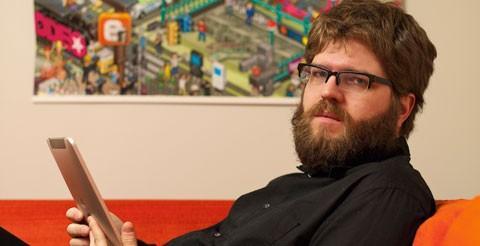 Pelle Sten, Digital Storyteller på Inuse. Foto: Tobias Björkgren