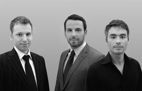 Fredrik Jutebrink, Oscar Uribe Enggren och Gio McArthur, IT Construct.