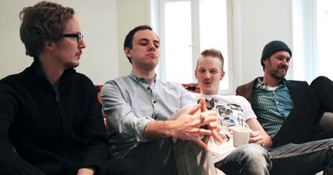 Samuel Svensson, Peter Bergström, Ola Olsson, Erik Lidsheim från webbyrån Söderhavet.