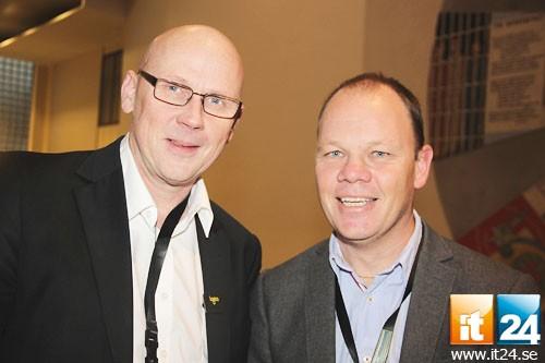 Toppmöte. Peter Petersen, Logica, och Lars-Magnus Westin, från det nystartade företaget Appnode.