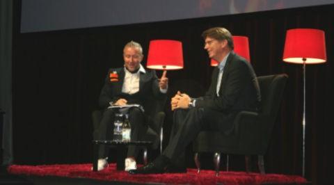 Ola Ahlvarsson och Niklas Zennström på SIME.