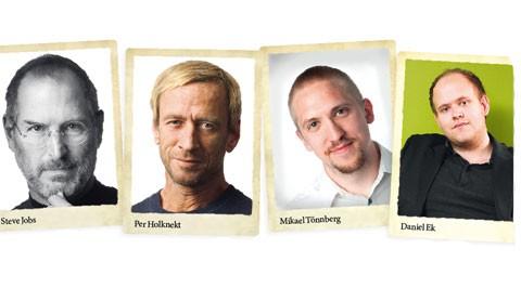 Steve Jobs, Per Holknekt, Mikael Tönnberg och Daniel Ek hör till de unga entreprenörernas förebilder.