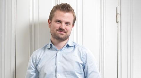 Erik Fors-Andrée, Vd för Juristjouren och driver vd-blogg.se. Foto: Andreas Eklund.