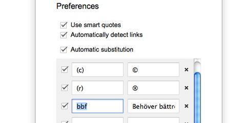Upprepande meningar - Google Docs