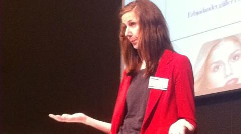 Evelina Ander pratar om e-postmarknadsföring på Webbdagarna