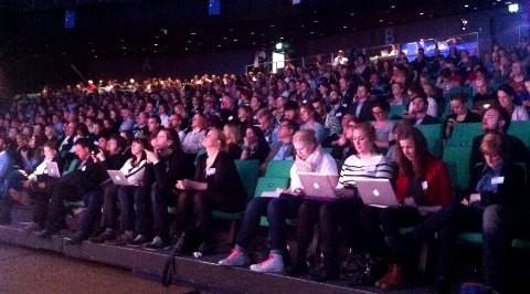 Många i publiken på Webbdagarna twittrade och bloggade under konferensen.
