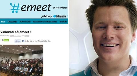 Rikard Westberg är en av initiativtagarna bakom okonferensen Emeet.