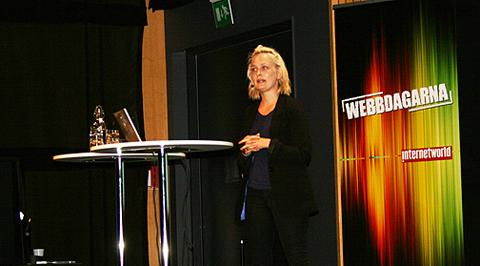 Johanna Ögren på Webbdagarna Luleå