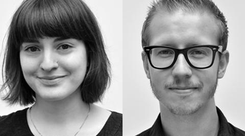 Axel Barvaeus och Nathalie Cano, produktionsledare på den digitala kommunikationsbyrån Pronto Communication.