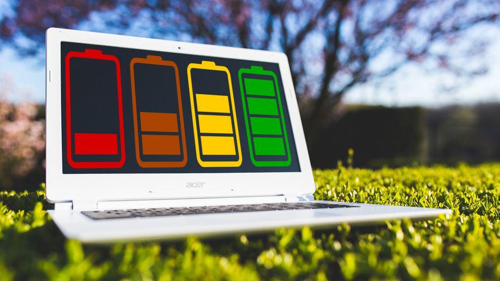 Batteritid laptop
