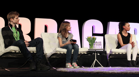 Marcus Nyman, Lisa Jonsson och Nellie Berntsson berättade om sin framgång på nätet