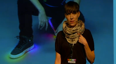 Darja Isaksson inledde Webbdagarna i Göteborg.