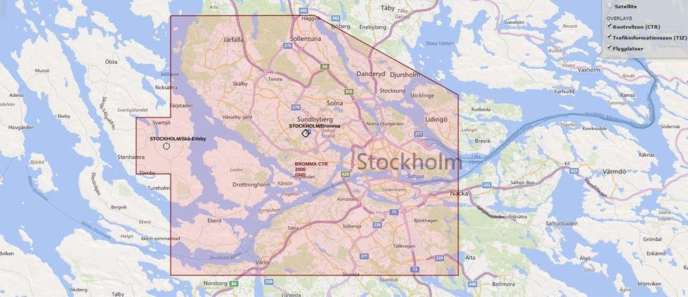 Flygzoner Stockholm drönare
