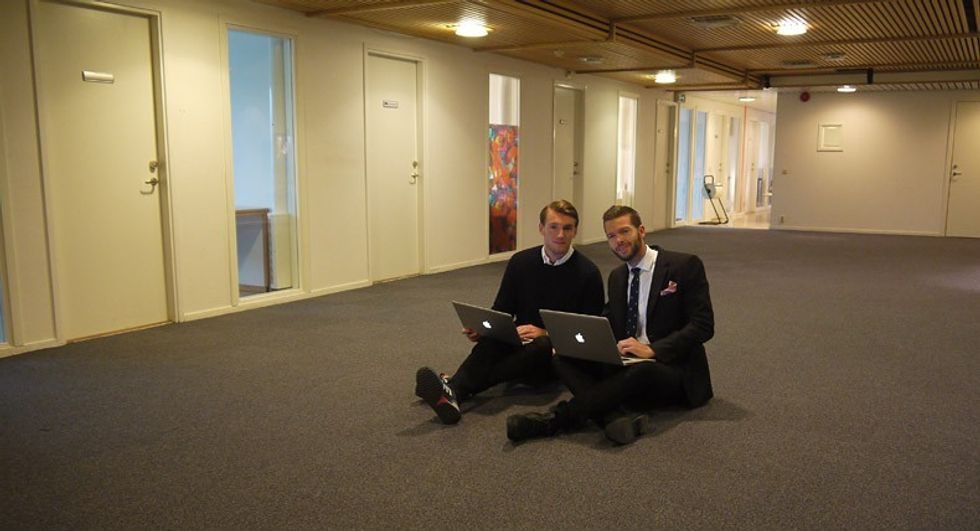 Peter Kurzwelly och Jens Östgaard