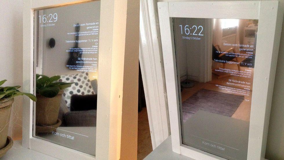 spegel skärm