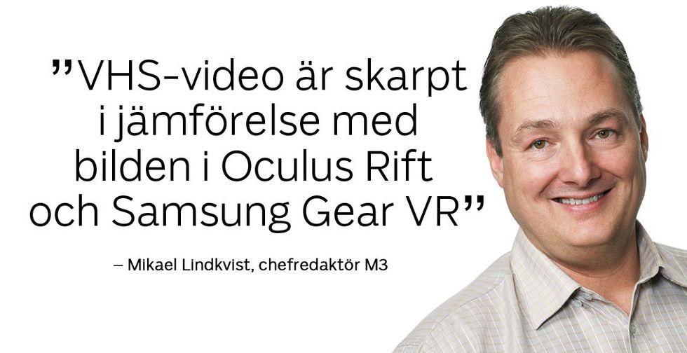 vhs är skarpt i jämförelse med oculus rift och samsung gear vr